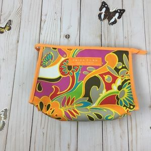 Trina Turk Clinique Orange Pattern Cosmetic Bag